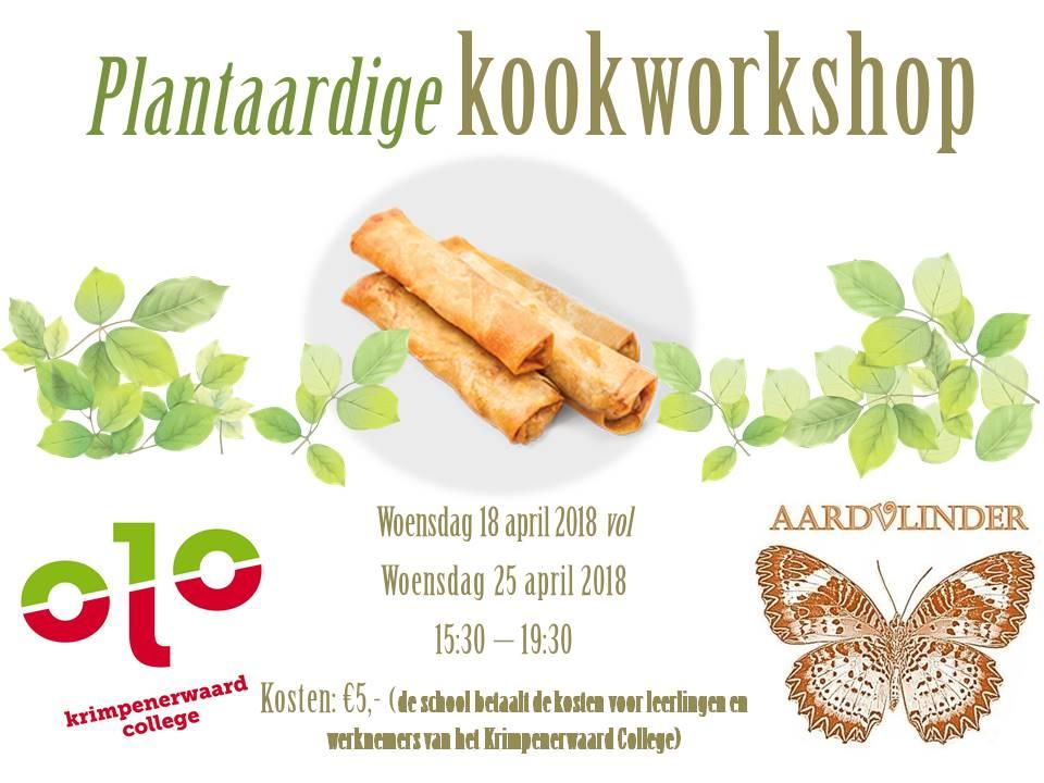 Plantaardige kookworkshop
